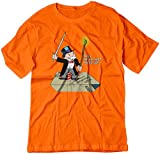 BSW YOUTH You Shall Not Pass Monopoly Gandalf Lord Rings Shirt LRG Orange