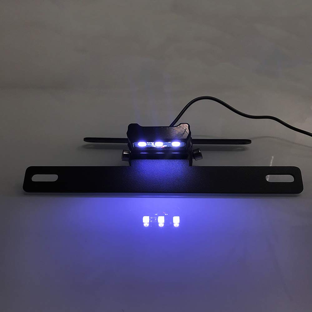 KKmoon Portamatr/ículas Moto Ajustable Soporte de Matr/ícula con Reemplazo de Luz de Matr/ícula LED para Ben elli 500