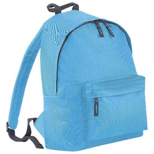 Bag Base Junior Fashion Rucksack, für Schule/Arbeit, Einheitsgröße, verschiedene Farben - SURF BLUE/GRAPHITE GREY