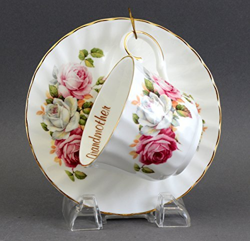 (English Fine Bone China GRANDMOTHER cup and saucer)