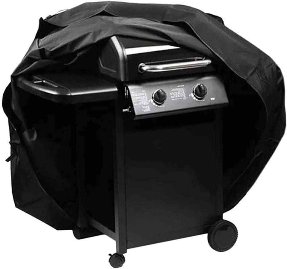 ZLALF Copertura per Barbecue 210D Oxford Impermeabile/Antipolvere/Anti-UV Copertura per Barbecue All'aperto con Coulisse E Fibbie,190X71X117cm 145x61x117cm