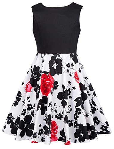 Vintage Cocktail Swing Party Dresses for Girls 11-12yrs CL600-3 -