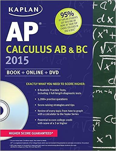 Amazon.com: Kaplan AP Calculus AB & BC 2015: Book + Online + DVD ...