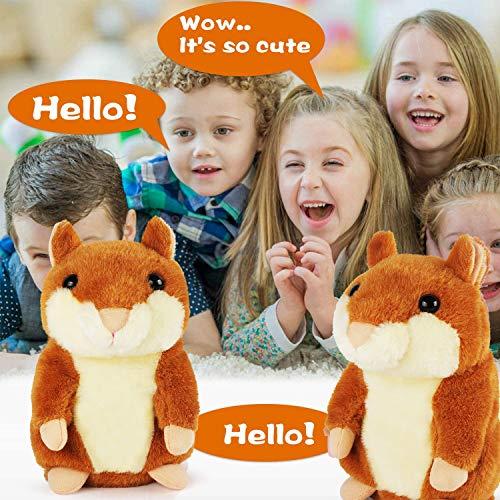 KMUYSL Bigger Talking Hamster – Repeats What You Say – Interactive Stuffed Plush Animal Talking Toy – Early Educational…