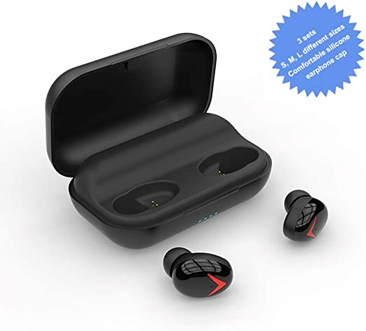 Hengta Auriculares Bluetooth 5.0, Auriculares Inalámbricos Deportivos In Ear IP5 Impermeable Cascos Inalámbricos con Estuche de Carga Micro para Running Deporte Gimnasio para iOS Android: Amazon.es: Jardín