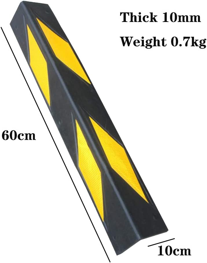 color black and yellow for garages and warehouses 10 mm thickness dimensions 60 x 10 x 10 cm ZQYR Parking# 60cm Rubber Corner Guards
