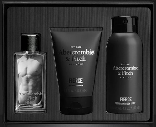 Abercrombie & Fitch Fierce Eau de Cologne Gift Set for Men - (1.7 oz) Cologne, Hair & Body Wash and Body Spray by Abercrombie & Fitch