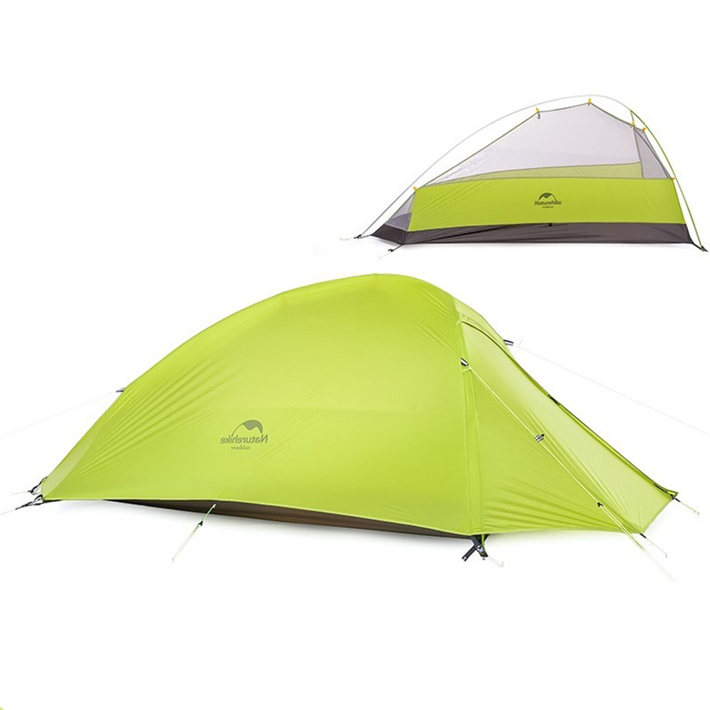 1 Person 4 Season Tent Double Skin Ultralight Camping Tent(20D Silicon Fabric Green) Naturehike