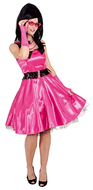 Rock N Roll Rockabilly Kleid In Pink Zu Karneval Fasching Gr 42