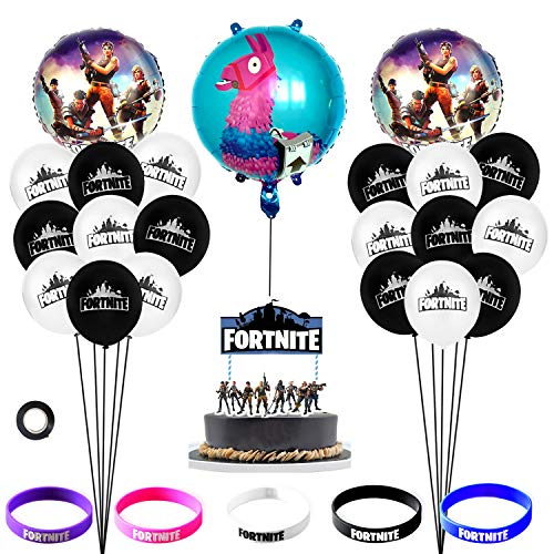 Gamer Invitations Cards Plates Topper wrappers Cupcake Cutlery Tablecloth Straws Napkins 210 Pcs BYPAMCO Video Gaming Party Supplies Kit Happy Birthday Video Game Party Decorations for Boy Latex Foil Balloons Banner Lanterns Serves 16