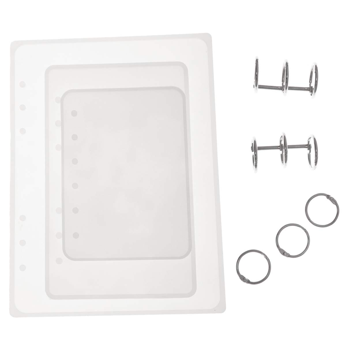 HEALLILY moldes cubierta del cuaderno a7 a6 a5 silicona moldes de fundici/ón reutilizables suaves molde port/átil epoxi con anillos de uni/ón para embarcaciones