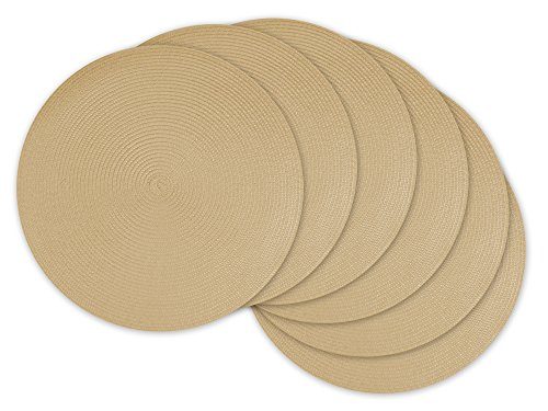 Basket Placemat - DII, Classic Round Placemats, Woven , Set of 6, 15