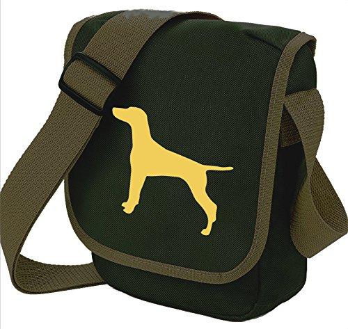 Hungarian Vizsla Dog Bag Reporter Bag Shoulder Bag Vizsla Silhouette Vizsla Gift Choice of Colours Olive Bag