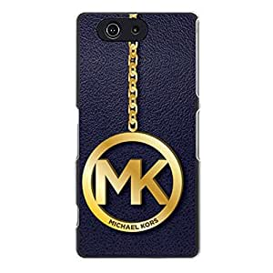 Michael Kors Logo Cover Case Faddish Style Snap on Sony Xperia Z3 Compact MK Phone Shell Case
