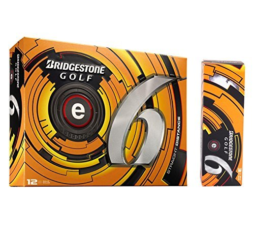 BRIDGESTONE e6 Tour White 3-Piece Straight Distance 72 Golf Balls | 6 Dozen