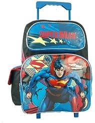 Superman Man of Steel 16 Large Rolling Backpack