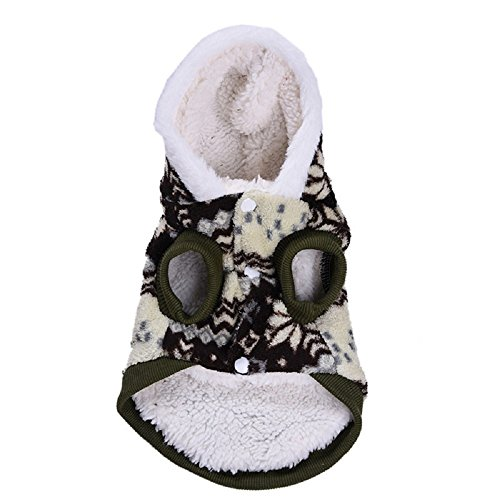 [Comfortable Winter Warm Pet Dog Cat Clothes Snowflake Costume Clothing Jacket Hoodie Coat (XS,] (Pomeranian Costume)