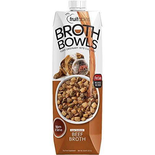 UPC 852763006085, Fruitables Beef Broth Bowl Pet Safe Natural Food Topper Ultra Low Sodium Calorie