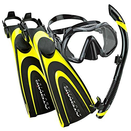 Atomic Aquatics Scuba Blade Fin, Venom Dive Mask, SV2 Snorkel Scuba Gear Package (Atomic Scuba Gear)