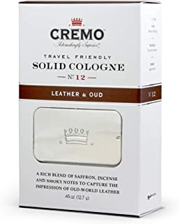 product image for Cremo Leather & Oud Travel Friendly Solid Cologne, A Smoky, Old World Scent With Notes Of Bitter Orange, Tuscan Leather, And Fragrant Agarwood.45 Oz