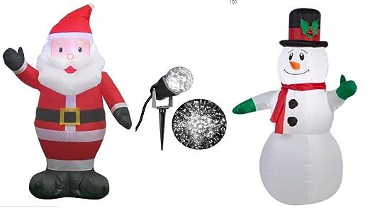 Hinchable de Papá Noel 3, 5 , inflable muñeco de nieve con ...