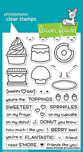 Lawn Fawn LF1551 Sweet Friends Clear Stamp (Sweet Fawn)