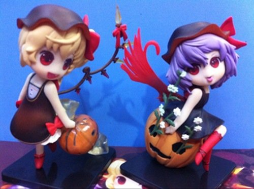 Allegro Huyer 12cm Japanese Anime Figure Touhou Project Remilia Scarlet/Flandre Scarlet Halloween VER Action Figure Collectible Model Toys