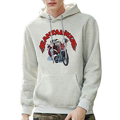 (Mens Hipster Christmas Printed Pullover Long Sleeve Hooded Sweatshirt Tops)