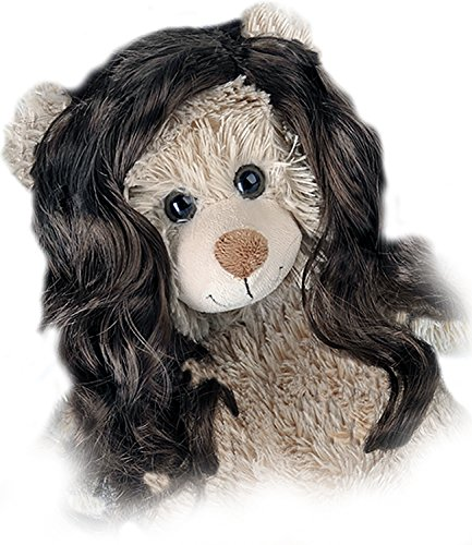 """Long Curly Brown Wig Fits Most 14"""" - 18"""" Build-a-bear and Make Your Own Stuffed Animals"""