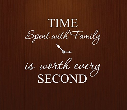 Cheap  Innovative Stencils 1249 white Time Spent with Family is Worth Every Second..