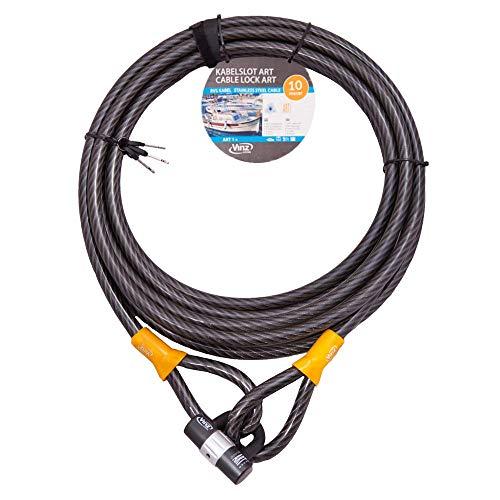 Vinz Kibo kabelslot | luskabel type 1 | oprolbaar 5 meter / 5 m – 10 m lang x ø20 mm | met twee sleutels | ook geschikt…