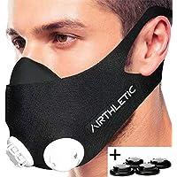 AIRTHLETIC Training Mask Masque de fitness - Masque d'entraînement pour entraînement en altitude simulé - Masque respiratoire pour le sport