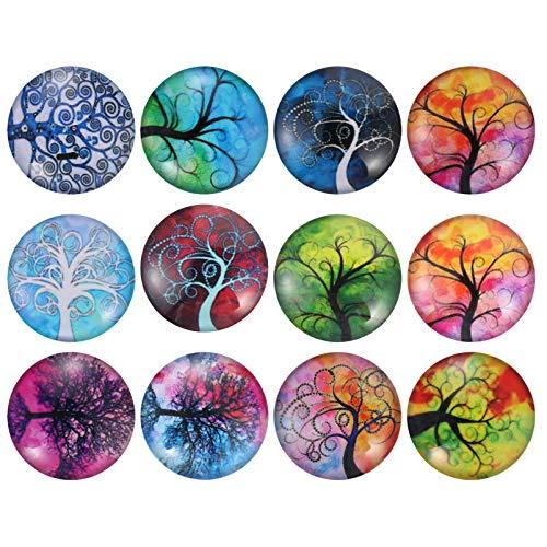 SOLUSTRE 12St Koelkastmagneten Mooie Glazen Koelkastmagneten Verwijderbare Koelkastmagneten Stickers Decor Voor…