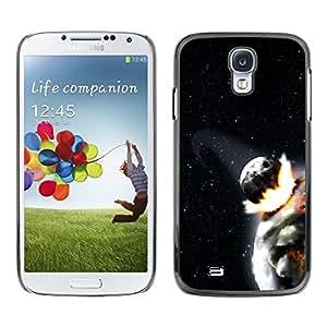 Tierras Burning Sun - Metal de aluminio y de plástico duro Caja del teléfono - Negro - Samsung Galaxy S4