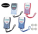 CANUO Basic Calculator 8 Digit Desktop Calculator with Lanyard Battery Power Only