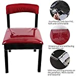 OULII Chair Protector Waterproof PVC Dining Chair Covers Removable, Pack of 2