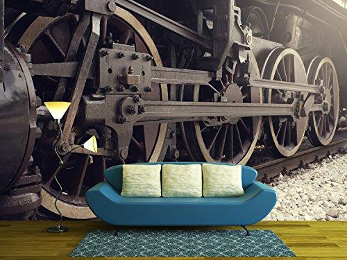 Old Locomotive Wheels Close Up