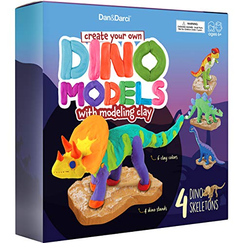 Create Your Own Dino Models with Modeling Clay - Build a Dinosaur Model with Air Dry Magic Clay - Animals & Dinosaur Gifts for Boys & Girls - Arts & Crafts Kit for Kids Ages 6 +