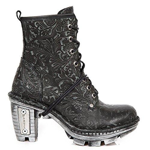 Ragazza Tacco neotr008 Urban Punk s2 M Nero Rock Gotico Heavy Stivali Donna Stivaletti New Stringati qUx1Xwz6