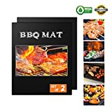 BESEGO Large Grill Mats, 2PCS Non-Sticky Heavy Duty BBQ Baking Mats (16 x 13), Apply for Charcoal Grill, Electric Grill, Oven, Microwave Oven & the Gas Grill