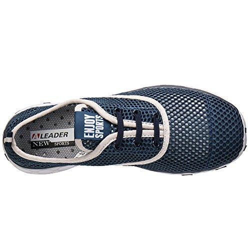 Hombre Azul Aleader De Malla Color Shoes Aqua Talla Escapines Para 40 77RYUnq