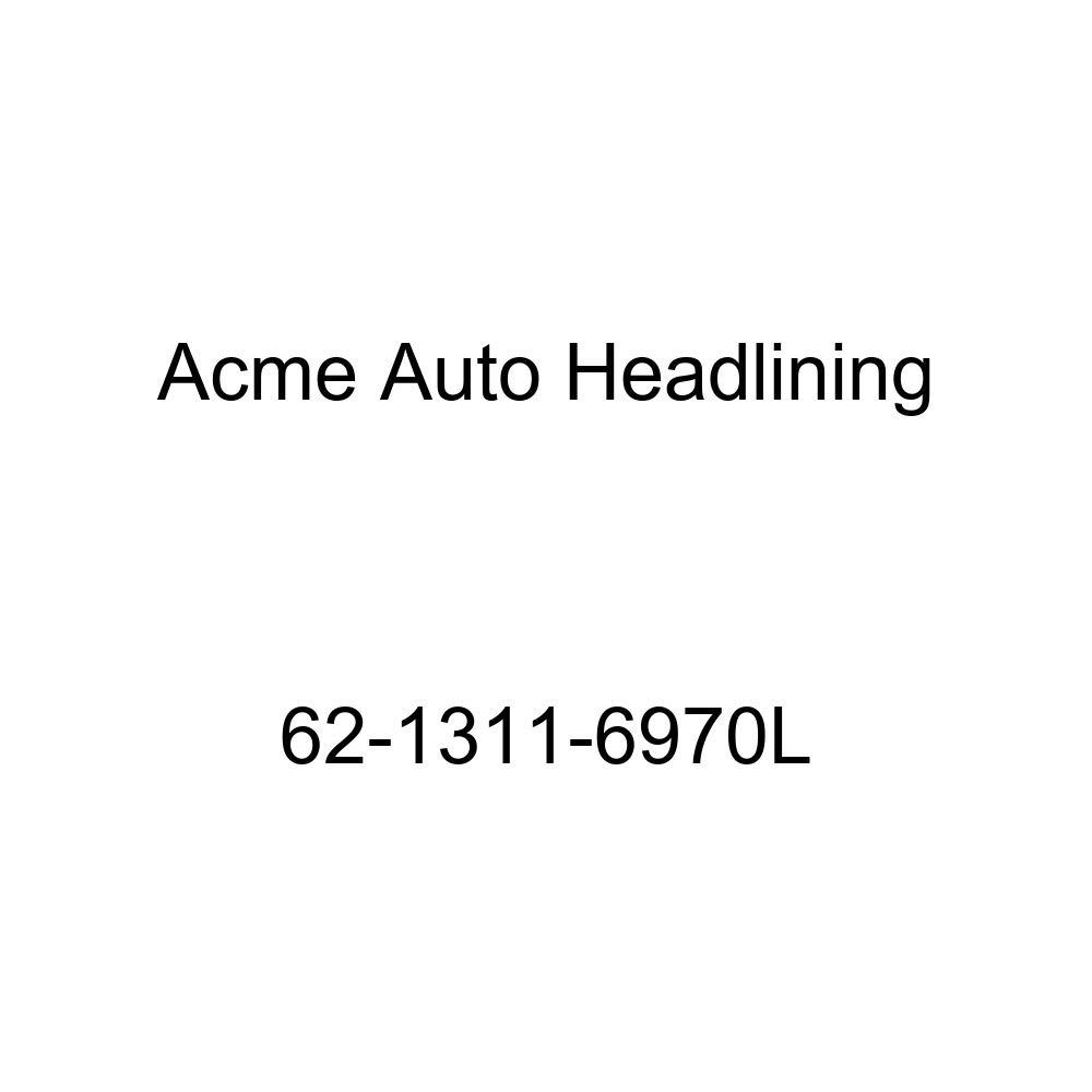 Acme Auto Headlining 62-1311-6970L Dark Blue Replacement Headliner 1962 Cadillac DeVille 2 Door Hardtop 6 Bow