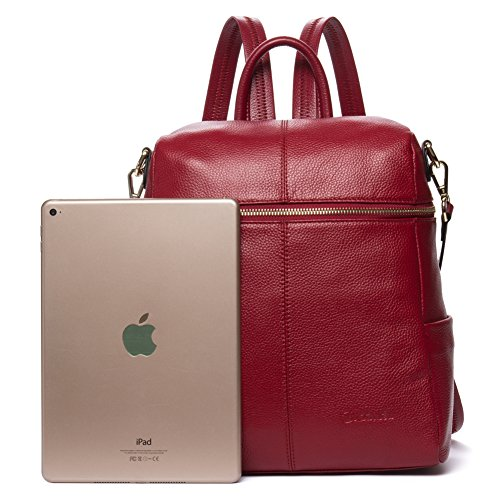 4c432493c6 Details about BOSTANTEN Women Leather Backpack Purse Satchel Shoulder  School Travel Bags