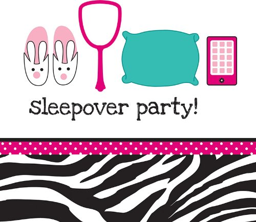 Creative Converting Pink Zebra Boutique Sleepover Lunch Napkins, 16 Count]()