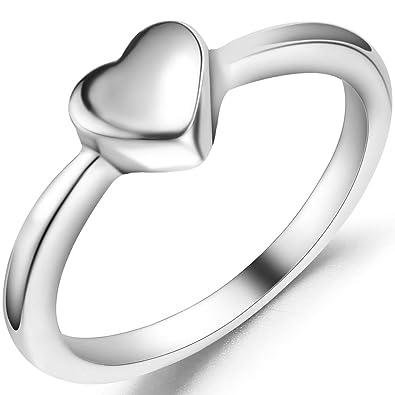 Amazon.com: Jude Jewelers - Anillo de compromiso de acero ...