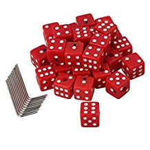 Yibuy 15x15x15mm Red Dice Shape Guitar Control Knobs & Wrenches Set of 60