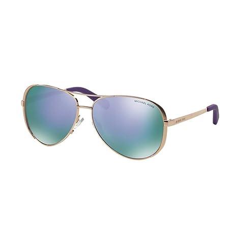 51cb0c5f328 Michael Kors Women s Mirrored Chelsea MK5004-10034V-59 Rose Gold Aviator  Sunglasses  Michael Kors  Amazon.ca  Clothing   Accessories