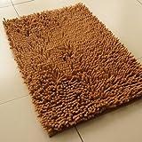"""Light Brown Anti-slip Microfiber Doormat Bedroom Kitchen Area Rug Carpet (31"""" X 20"""")"""