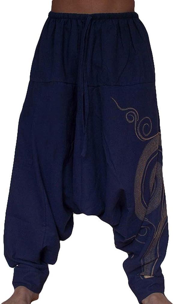 MEIHAOWEI Nuevo Hip Hop Retro Baggy Algodón Lino Harem Pant Hombres Tallas Grandes Pantalón Ancho Pantalón Nuevo Boho Pantalones Casuales Pantalones Cruzados: Amazon.es: Ropa y accesorios