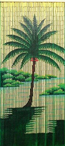 Palm Tree Bamboo Door Curtain (Bamboo Curtain Halcyon Palm Tree)